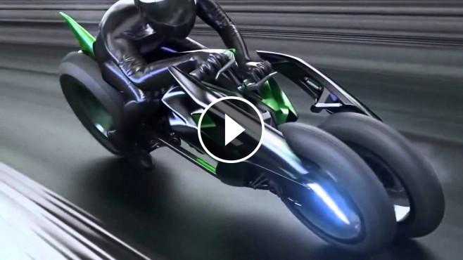 kawasaki  wheel electric vehicle  concept