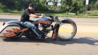Twin Turbo Hubless HARLEY BAGGER!!