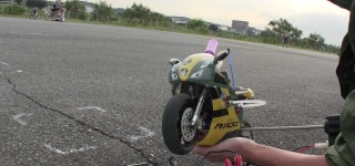 100% Factory Built 1/5 Scale Nitro R/C Motorbike Gives You Seven Minutes to Enjoy