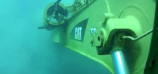 CAT Excavator Underwater Working!