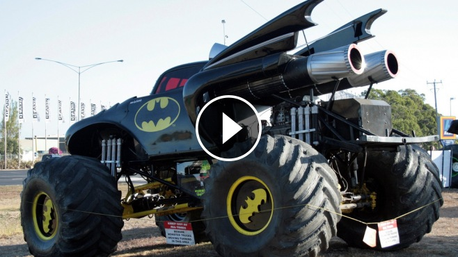 The Extreme Loud Supercharged Monster Batman Truck