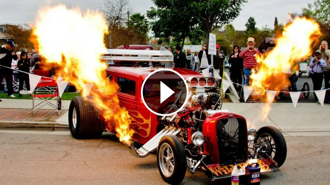 Monster Truck Rc Cars >> Monster Hot Rod Wild Thang Shooting Flames, Loud Engine ...