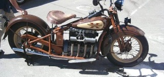 Vintage Looking 1931 Henderson Motorcycle Runs and Sounds Really Awesome