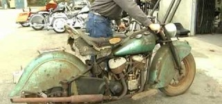 1948 Indian Chief Motorcycle Comes Back to Life After 40 YEARS!