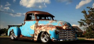 "1951 Slammed Chevrolet 3100 ""Crazy Horse"" with Elegant Interior Design"