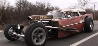 Insane 57 Chevy Wagon RAT ROD!