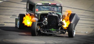 The Flamethrower 1929 Ford Rat Rod Drift Show