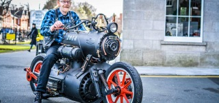 Steam Powered Motorcycle Is Any Steampunk's Fan Dream Come True