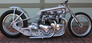 1960 Twin Triumph Engine Motorcycle Dragster