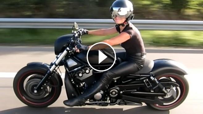 Harley Davidson Leather Woman V Rod Ride