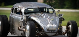 Bad Ass VW Bug Rat Rod with Airplane Engine
