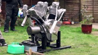 "The ""Flying Millyard"" 5 Litre V Twin Engine!"