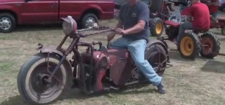 AWESOME Hand-build Custom TRACTOR Bike!