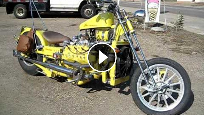 Totally Diffirent 1949 V8 Ford Flathead Custom Motorcycle