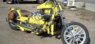 Totally DIFFIRENT! 1949 V8 Ford Flathead Custom Motorcycle