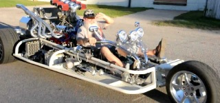 Justryken V8 Trike - Fire in the hole!