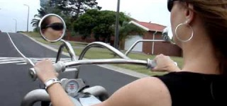My Crazy WIFE Enjoying My V8 Twin TURBO TRIKE