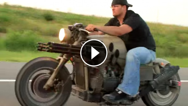 1955 Chevy Truck >> This Honda Gatling Gun Motorcycle