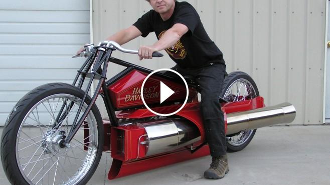 Twin Jet Engine Harley Dragon Pulsejet Jet Engine Bike