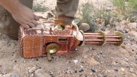 Very Unique Man Builds Functional Steampunk Gatling Gun