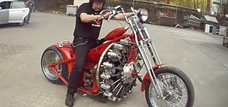 Radial Engine Strapped To A Motorcycle!