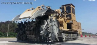 Tesmec 1150XHD Rock Hawg Pavement Breaking Machine in Action