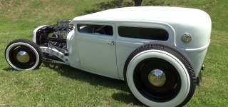 "White on White! Striking 1929 Ford Hot Rod ""Big Booty Judy"""