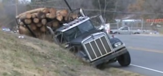 How to Recover Ditched Kenworth Log Truck Like a BOSS