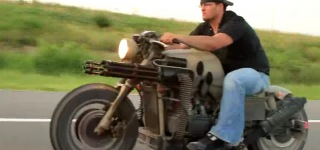 This Honda Gatling Gun Motorcycle