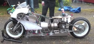 First Test of my GAS TURBINE Motorcycle!