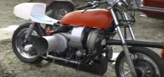 Home made jet engine Motorcycle! Second Run
