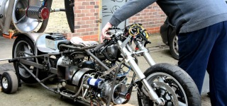 Awesome JET Engine, Drag Jet Bike!