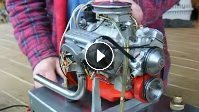 Chevy Muscle Cars >> The World's Smallest Chevy 327 V8 Engine That Actually Runs