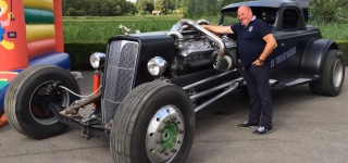 Hot Rod With a Detroit Diesel 16V-71 Engine
