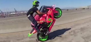 Crazy 69 Stunt On A Motorcycle