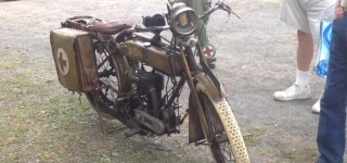 Rare Old Motorcycle 1917 Triumph