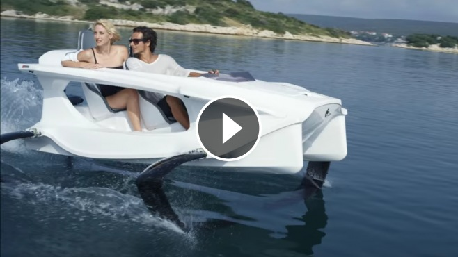 A Boat From The Future Quadrofoil Hydrofoil Electric