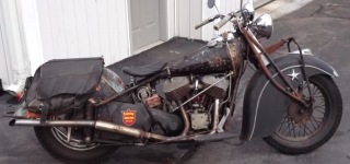 Great Sound 1941 INDIAN Chief Old Motorcycle!