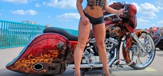 2015 Daytona Bike Week, Boardwalk - Custom Bagger Show