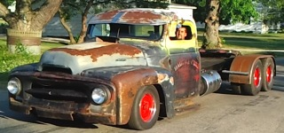 Rat Rod Old School Diesel Mini Semi Powerstroke