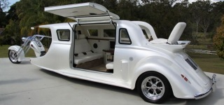 An unusual bike is on the road - Harley Davidson Limo-Bike