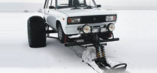 Snow Foot Car - Turn Your Car into a Snowmobile