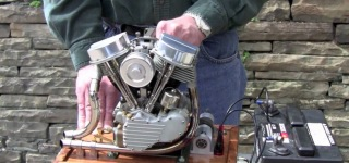 Scale Running Model Harley Panhead Engine