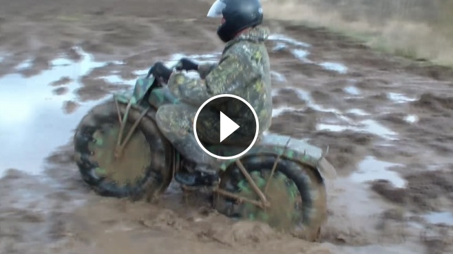 Powerful Russian Made All Terrain Portable Motorcycle