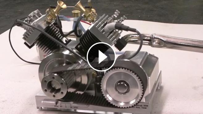 Spectacular V2 Model Engine By Terry Mayhugh