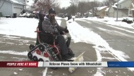 Veteran Turns His Wheelchair Into A Pretty Awesome Snow Plow