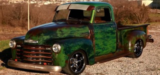 "1949 Slammed Chevrolet Hot Rat Street Rod Pro Touring Patina Truck the ""Dragon"""