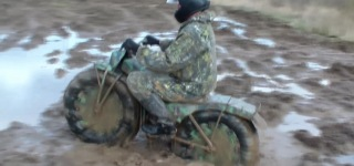 Powerful Russian Made All-Terrain Portable Motorcycle Taurus 2M