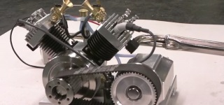 Spectacular V2 Model Engine by Terry Mayhugh