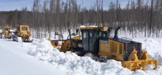 Spectacular Snow Plowing in Yellowstone National Park
